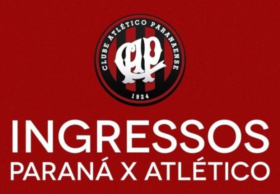 Ingressos para Paraná Clube x Atlético à venda a partir desta sexta-feira